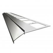 K100 Profil aluminiowy balkonowy 2.0m szary RAL 7037 - listwa balkonowa okapnikowa szara