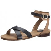Clarks Women's Viveca Zeal Black (Fit D) Leather Fashion Sandals - 5 UK
