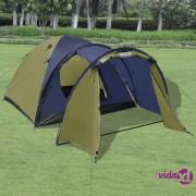 vidaXL Šator za 4 osobe zeleni