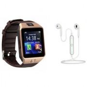 Zemini DZ09 Smart Watch and S6 Bluetooth Headsetfor SAMSUNG GALAXY S 5 SPORT(DZ09 Smart Watch With 4G Sim Card Memory Card| S6 Bluetooth Headset)
