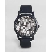 Emporio Armani Часы с кожаным ремешком Emporio Armani AR11136 - Черный
