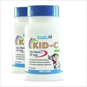 HealthVit KID-C Kids Vitamin C Chewable 50mg. 60 Tablets