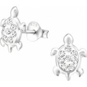 Cercei argint Broasca testoasa cu cristale Swarovski White A4S32813-2