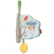 Skip Hop Baby Treetop Friends Soft Activity Book, Grey Pastel