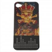 EW Nueva cubierta de la caja 3D para el iPhone 4 &4S Efectos Flash disco protector para 4S