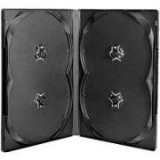 DVD-BOX 14 mm Четворна черна за DVD - в кашон 100 броя