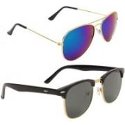 Royalmede Aviator, Clubmaster Sunglasses(Blue, Black)