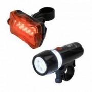Set lanterna fata si stop spate pentru bicicleta 2 moduri de iluminare