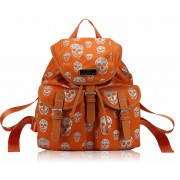 Kabelka LS00271 - Orange Skull Print Unisex Rucksack Shoulder Bag