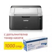 Лазерен принтер Brother HL-1212WE в комплект с оригинална тонер касета TN-1030, монохромен, 2400 x 600 dpi, 20стр/мин, Wi-Fi 802.11n, USB 2.0, A4, 2+1 г.