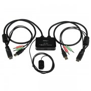 Startech 2 Port Usb Hdmi Cable Kvm Switch With Audio And Remote Switch