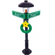 MinifigurePacks: Lego City/Town STREET SIGN - LAMP POST Intersection of Brick & Front
