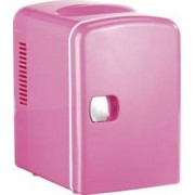 Rosenstein & Söhne Mini réfrigérateur 2 en 1 avec prise 12 / 230 V - Rose