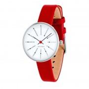 Arne Jacobsen Clocks Armbandsur Bankers - vit/röd 30 mm Vit/röd