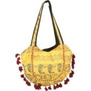 Minky's Decor Men & Women Yellow, Multicolor Cotton Shoulder Bag