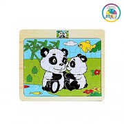 Smiles Creation™ Wood Jigsaw Puzzles for Small Children Kids. Pack of 6 Different Patterns with 20 Piece Puzzle in a Frame Board Toys for Kids