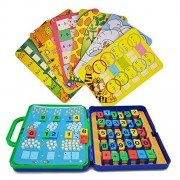 Hanmun Number Counting Card Math Game - Jt17003 Colorful Cards of Arithmetic Count and Learn Match Preschool Learning Toy Gift for Kid 3+