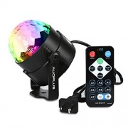 AUOPLUS Sound Activated Disco Ball Stage Strobe Lighting LED Party Light with Remote