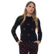 Red Valentino Maglia in lana Nero/rosso Lana angora Donna