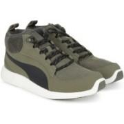 Puma ST Trainer Evo Demi v2 Corduro Sneakers For Men(Olive, Black)