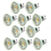 GU10 LED-spotlampen MR16 1 COB 500 lm Warm wit Koel wit 2700-6500K K Dimbaar AC 220-240 V
