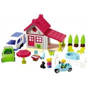 Ecoiffier Abrick Holiday House (52 X 38 X 27.5 cm), Multi Color