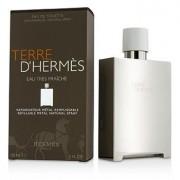 Terre D'Hermes Eau Tres Fraiche Eau De Toilette Refillable Metal Spray 150ml/5oz Terre D'Hermes Eau Tres Fraiche Тоалетна Вода Презареждаем Метален Спрей