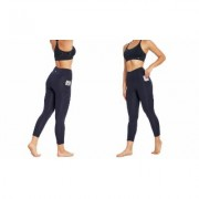 "Women's Bally Total Fitness Bally Fitness High Rise Pocket Ankle Legging 25"""" M Midnight Blue"