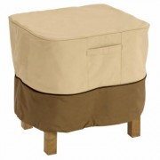 Classic Accessories Ottoman/Side Table Cover, Cover Type Small Table/Ottoman, Primary Color Tan, Primary Material Polyester, Model 55-645-051501-00