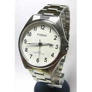 Pánské čitelné voděodolné ocelové hodinky Foibos 3883.1 - 5ATM (bílý ciferník)