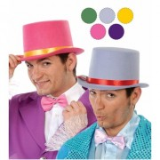 Geen Carnaval hoge hoed van grijs vilt