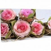 Tablou Canvas Buchet de trandafiri cu frunze 80 x 120 cm
