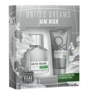 Benetton United Dreams Aim High Set EDT 100 мл. + 100 мл. афтър шейв балсам