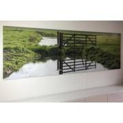 Fotovergroting verlijmd achter acrylaat 30x180 cm