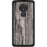 Motorola Moto G7 Power Hardcase hoesje Oud hout