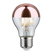 Paulmann Lampadina LED E27 7,5W Bulbo A60 Filamento con calotta rame a specchio