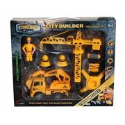 Construct A Truck-City Builder Set-Excavator.Create a city construction site