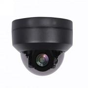 MOVE CC-webcam Cámara de vigilancia analógica 1080P Mini Dome Ptz Pan Tilt 4X Zoom Tvi Cvi Cvbs 4 en 1 2 MP Día Noche IR 30 M, DC 12V NTSC, 2.8-12mm(Manual)