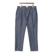 【61%OFF】デニム センタープレス パンツ ネイビー 48 ファッション > メンズウエア~~パンツ