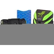 Ghiozdan ergonomic echipat, HERLITZ Motion Plus Green Dino