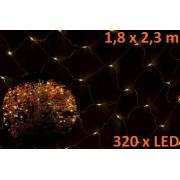 Karácsonyi LED fényháló 1,8 x 2,3 m - meleg fehér, 320 dióda