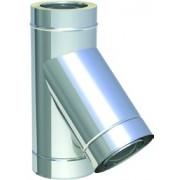 Tecnovis - jednoplášťová nerezová vložka odbočka Tkus45° FU0616 hr.0,6mm o130