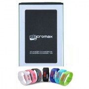 Li Ion Polymer Replacement Battery with Digital LED Watch for Micromax Canvas Colors 2 A120