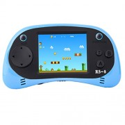 ZHISHAN Handheld Game Console Classic Retro Video Gaming Player Portable Arcade System Birthday Gift for Kids Recreation 2. 5 Color Lcd Built in 260 Games (Light Blue)