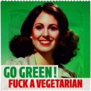 Go Green! Fuck a vegeterian kondom