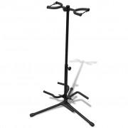 vidaXL Gitarový stojan pre dve gitary skladací