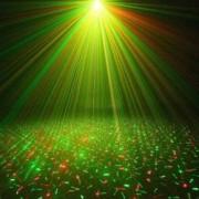 Proiector 3D Laser LED cu Jocuri de Lumini 2 Culori si Senzor de Sunet Iluminare pe Ritmul Muzicii