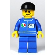 Lego Town Minifigure: Gas Station Attendant with Octan Oil Logo (2007)