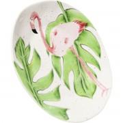 Kare Bord Flamingo Holidays WhiteØ21cm
