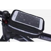 XL Touchscreen Fietsframe Tas - Grote Enkele Afneembare Frametas - Met groot touchcreen voor Smartphone / iPhone / Samsung Mobiele Telefoon Houder Afneembaar - Waterdicht - Ideaal voor MTB